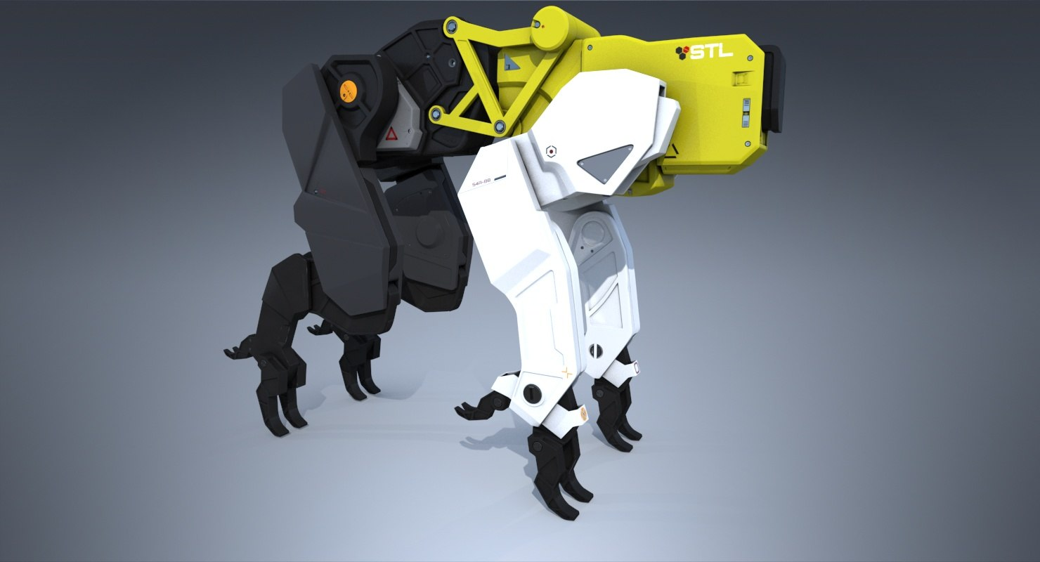 3D sci-fi robotics animal model