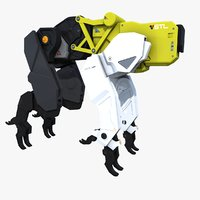 Sci-fi Bloodhound Animal Robot