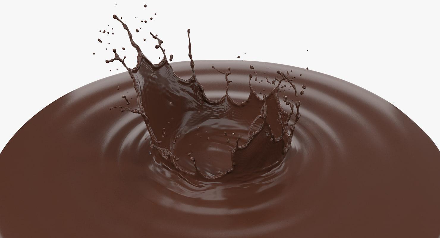 3D chocolate crown splash
