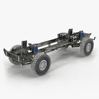 racing truck kamaz chassis model
