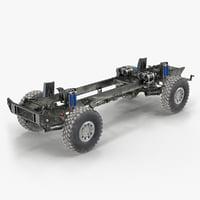 Racing Truck KAMAZ Chassis 3D Model
