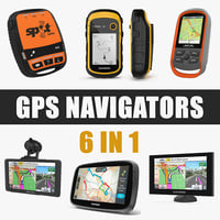 3D gps navigators model