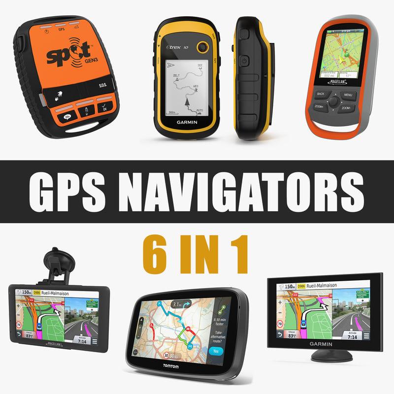 3D gps navigators model