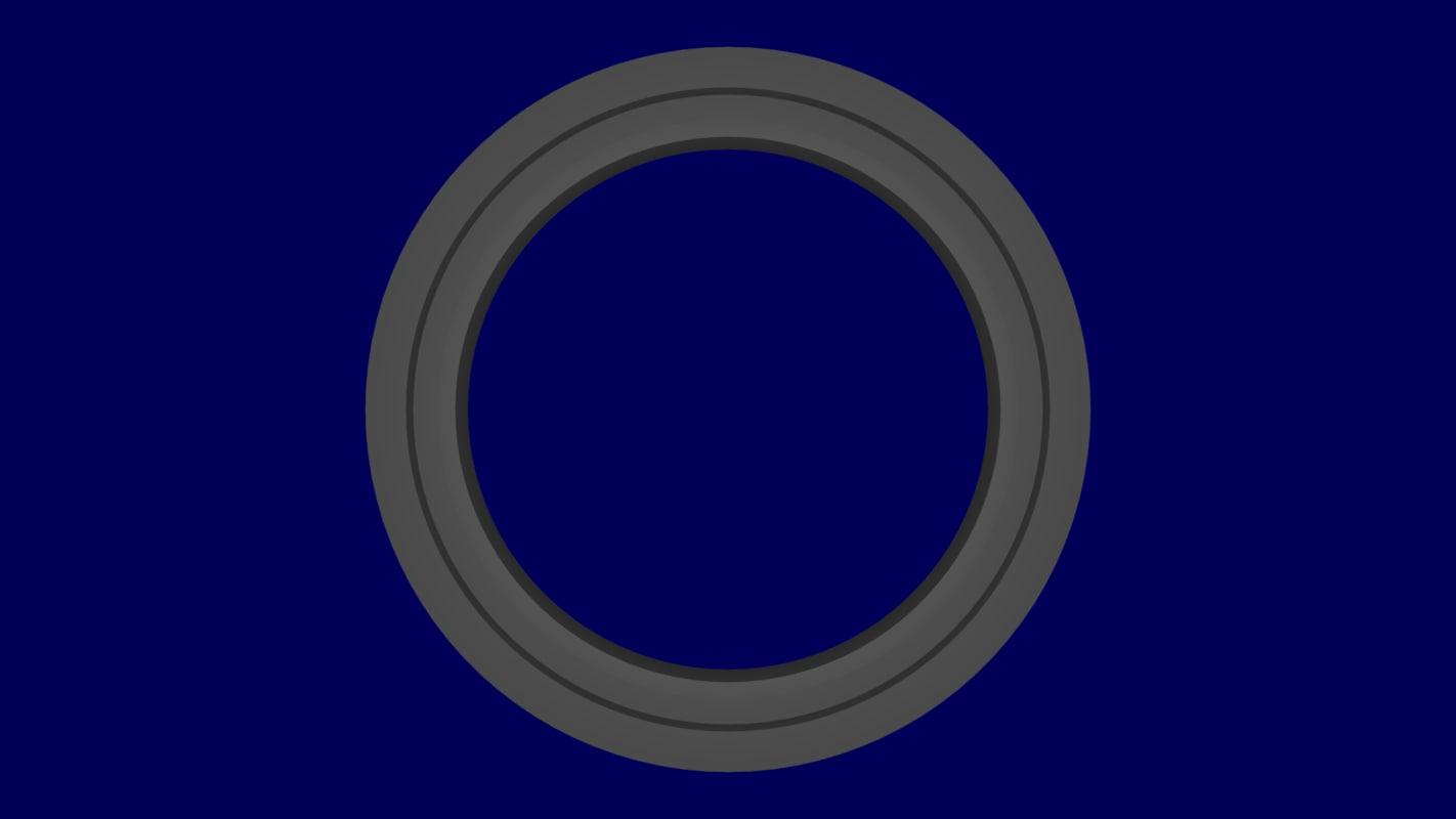 3D model ring stargate