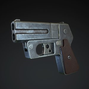 3D double-barreled derringer