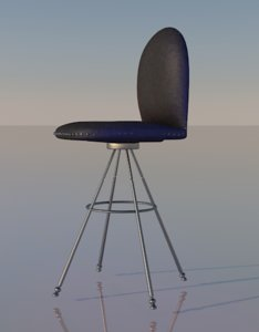 3D model stool bar chair
