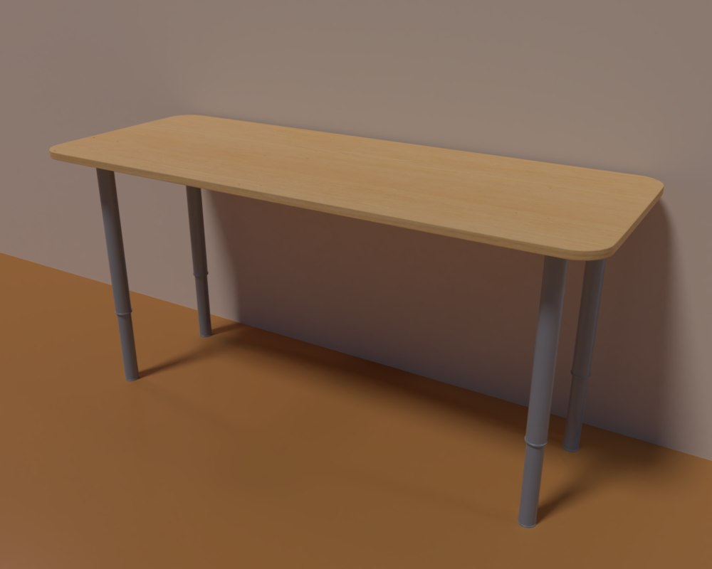 desk table 3D model