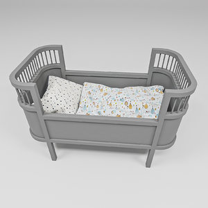 rosaline doll bed 3D