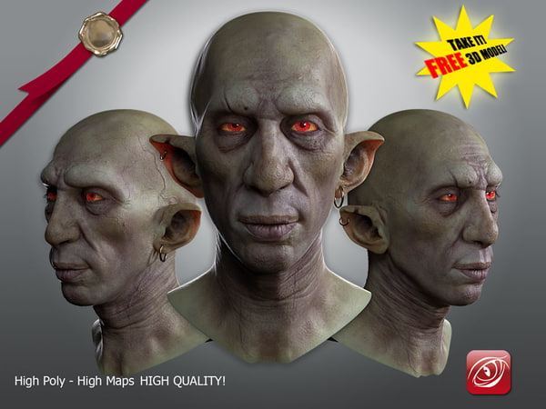 3D goblin fantasy modeled model