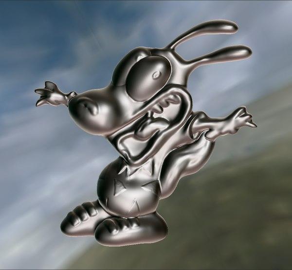 3D rocko cartoon pendant