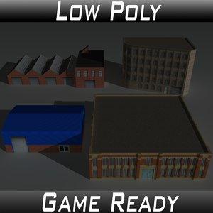 factory building set model
