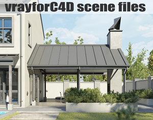 vrayforc4d scene files - 3D model
