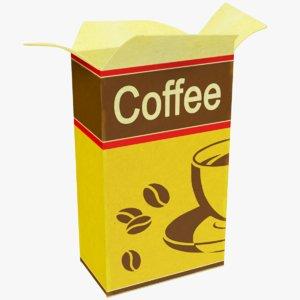 3D coffee pack model