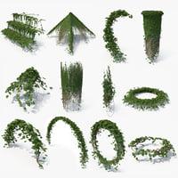 ivy column 3D