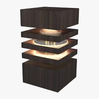realistic table lamp 3D model