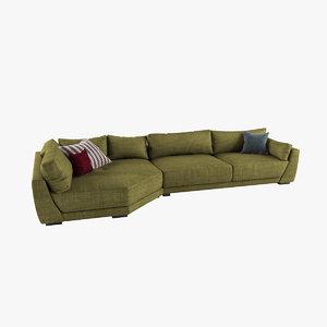 3D model kristian sofa