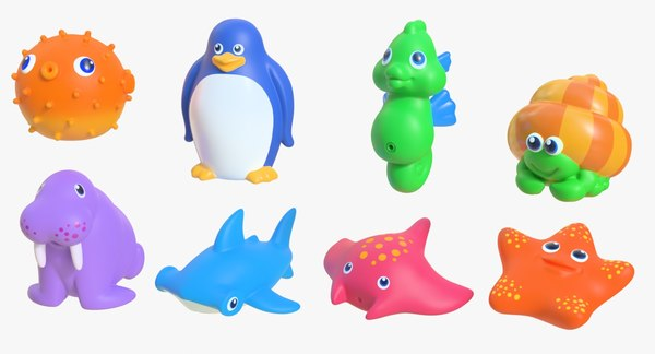 rubber toy pack 03 3D model