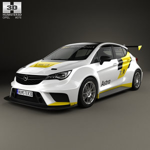 opel astra tcr 3D model