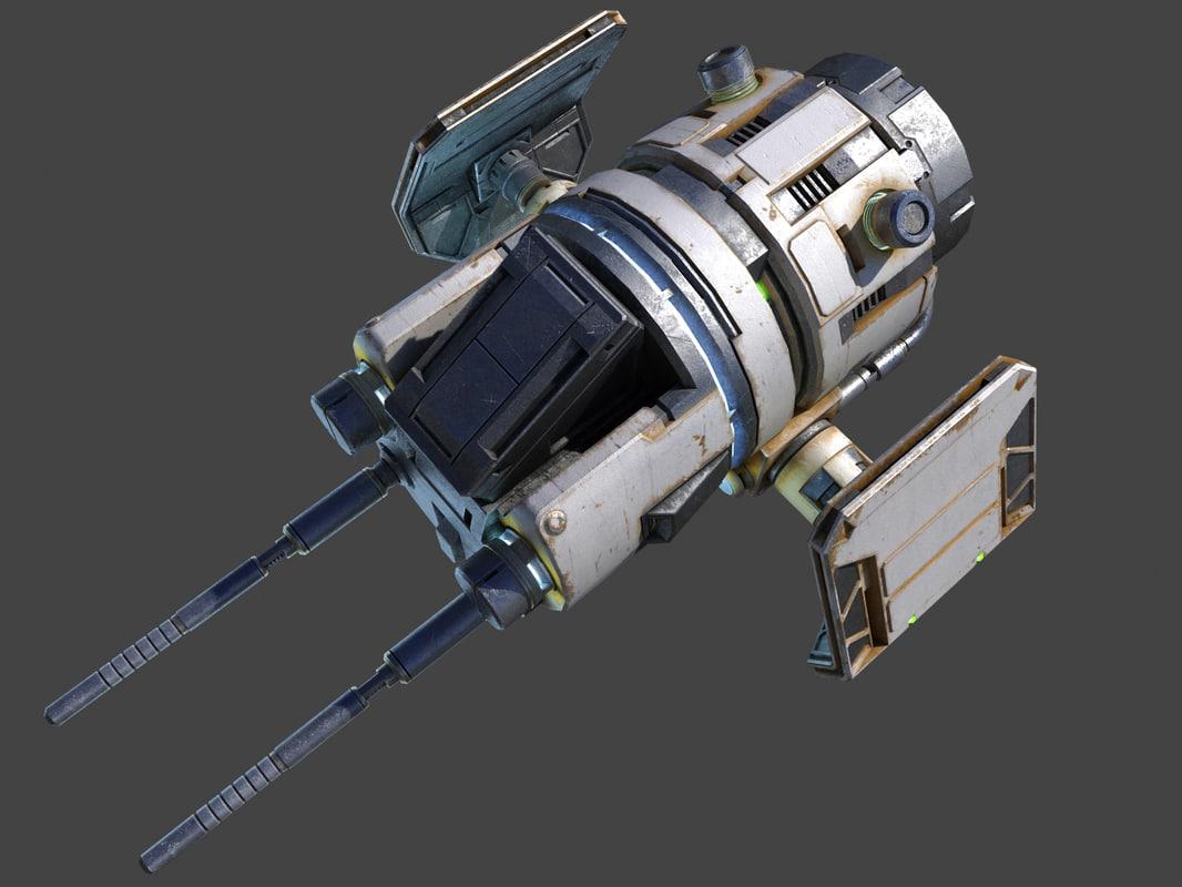 3D sci-fi element model