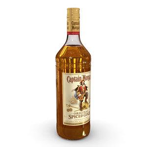 captain morgan 1l bottle 3D