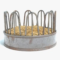 cattle feeder 3D model