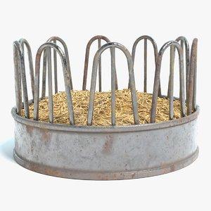 cattle feeder 3D model