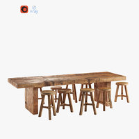 wooden dining table model