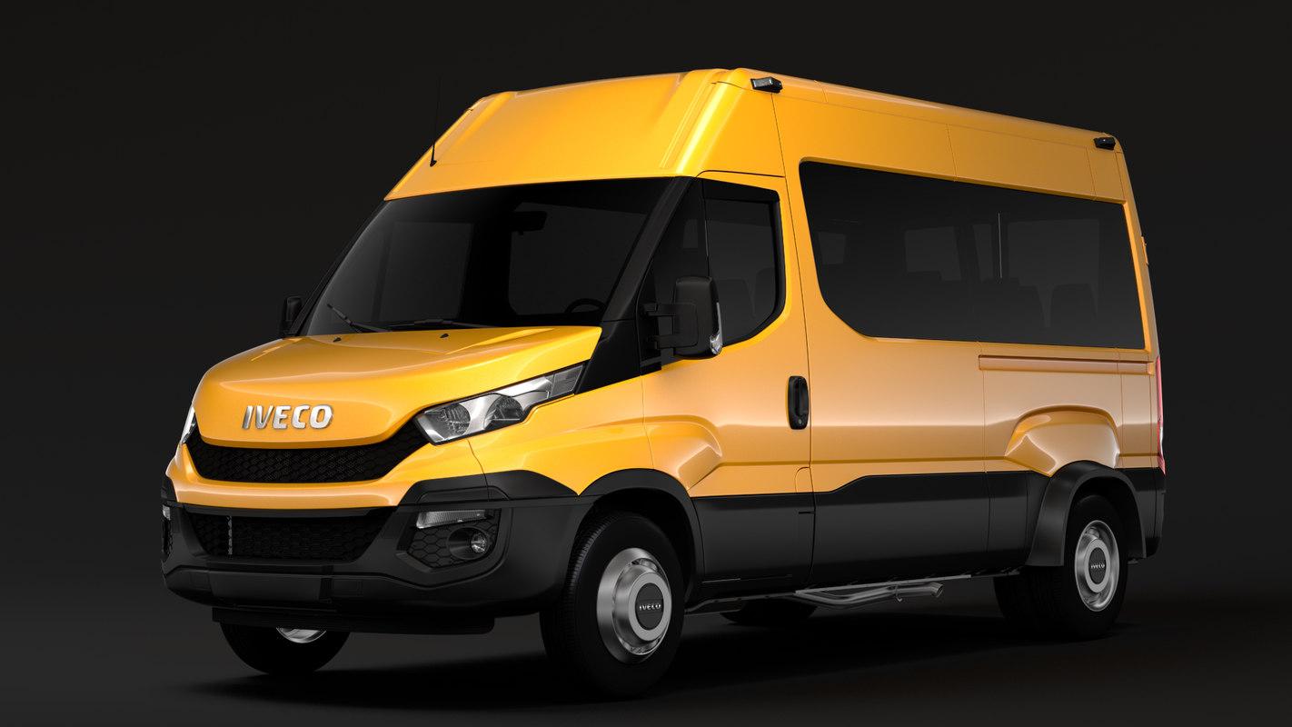 3D model iveco daily minibus l2h2