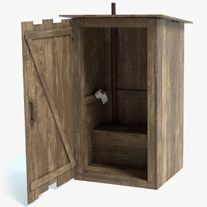 3D outhouse pbr