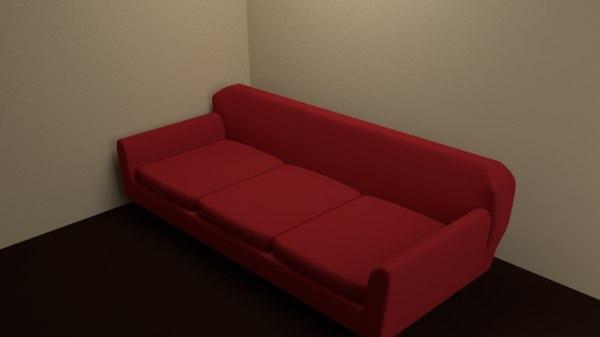 3D simple sofa cushions separate