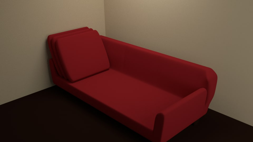3D simple sofa cushions separate
