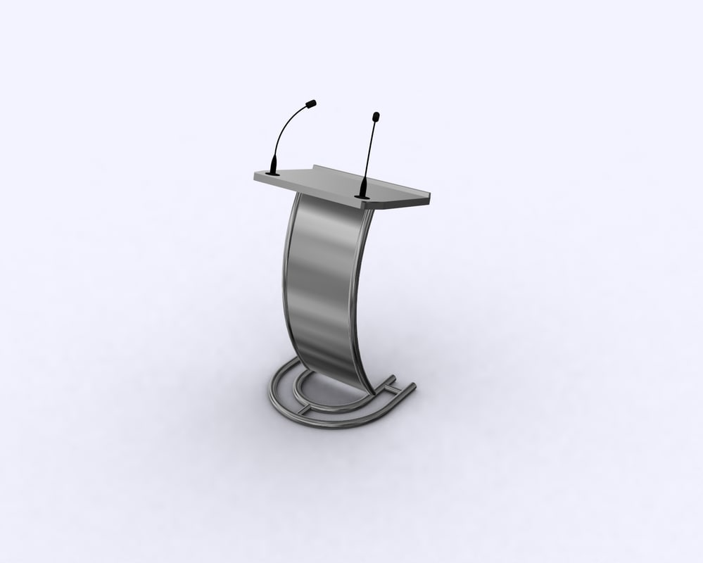 podium presenter broadcast 3D
