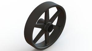 briggs stratton lawnmower wheel 3D model