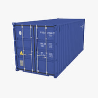 3D model 20ft industrial container