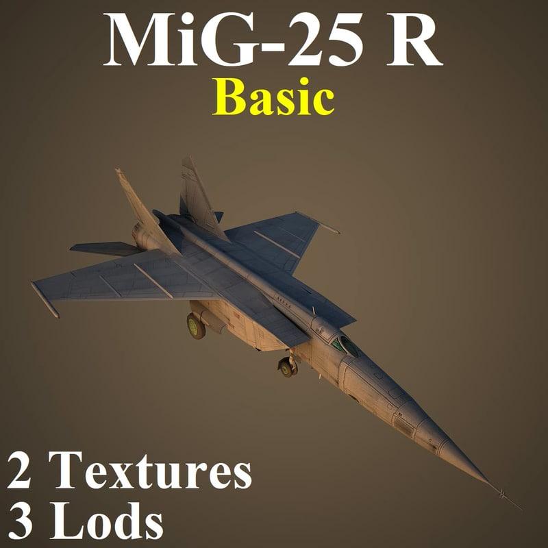 3D model mikoyan basic