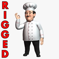 Cartoon Chef Rigged