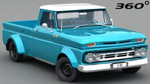 chevrolet c-10 1965 interior 3D model