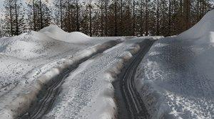 snow landscape 3D model