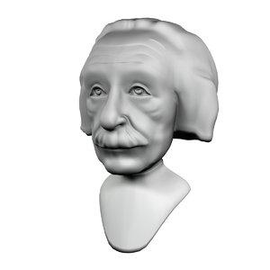 einstein sculpture 3D model
