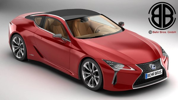 3D lexus lc 500 hybrid model