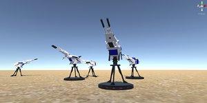 3D battle turret - weapon model
