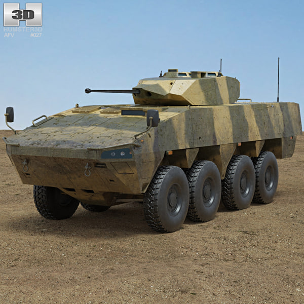 3D model patria amv