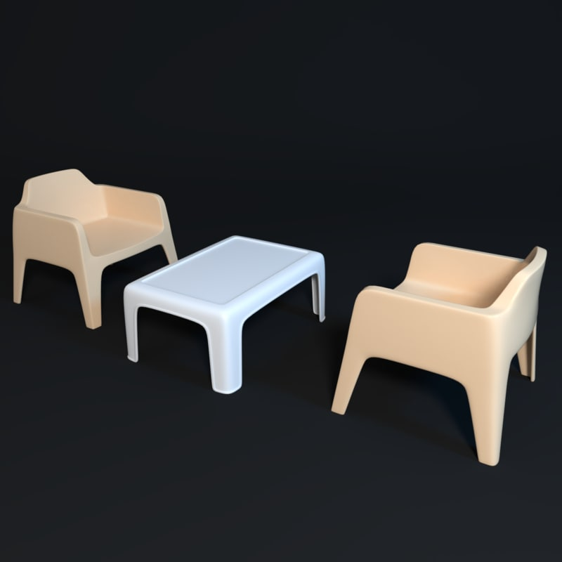 3D caf table model