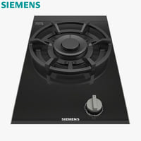 3D model gas hob ceramic