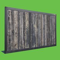 wood panel 3D model
