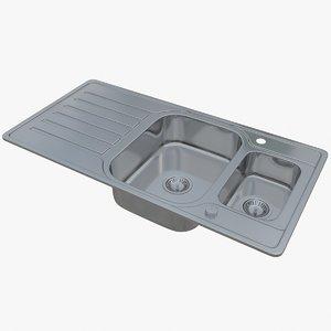 3D sink blanco lantos 6