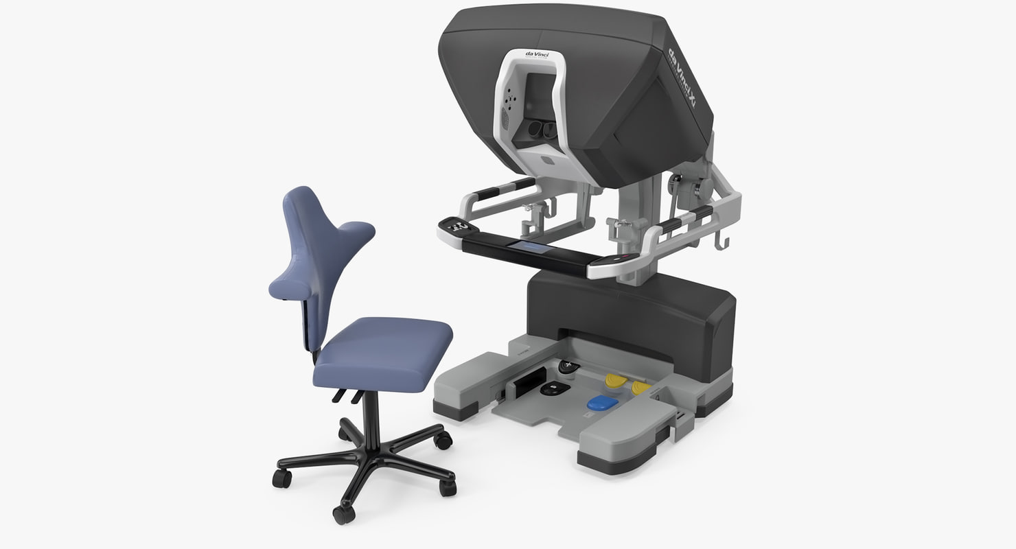 3D surgeon console da vinci model