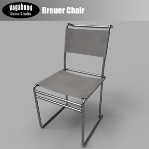modern low-poly breuer chair 3D model
