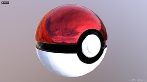 3D pokemon pokeball model