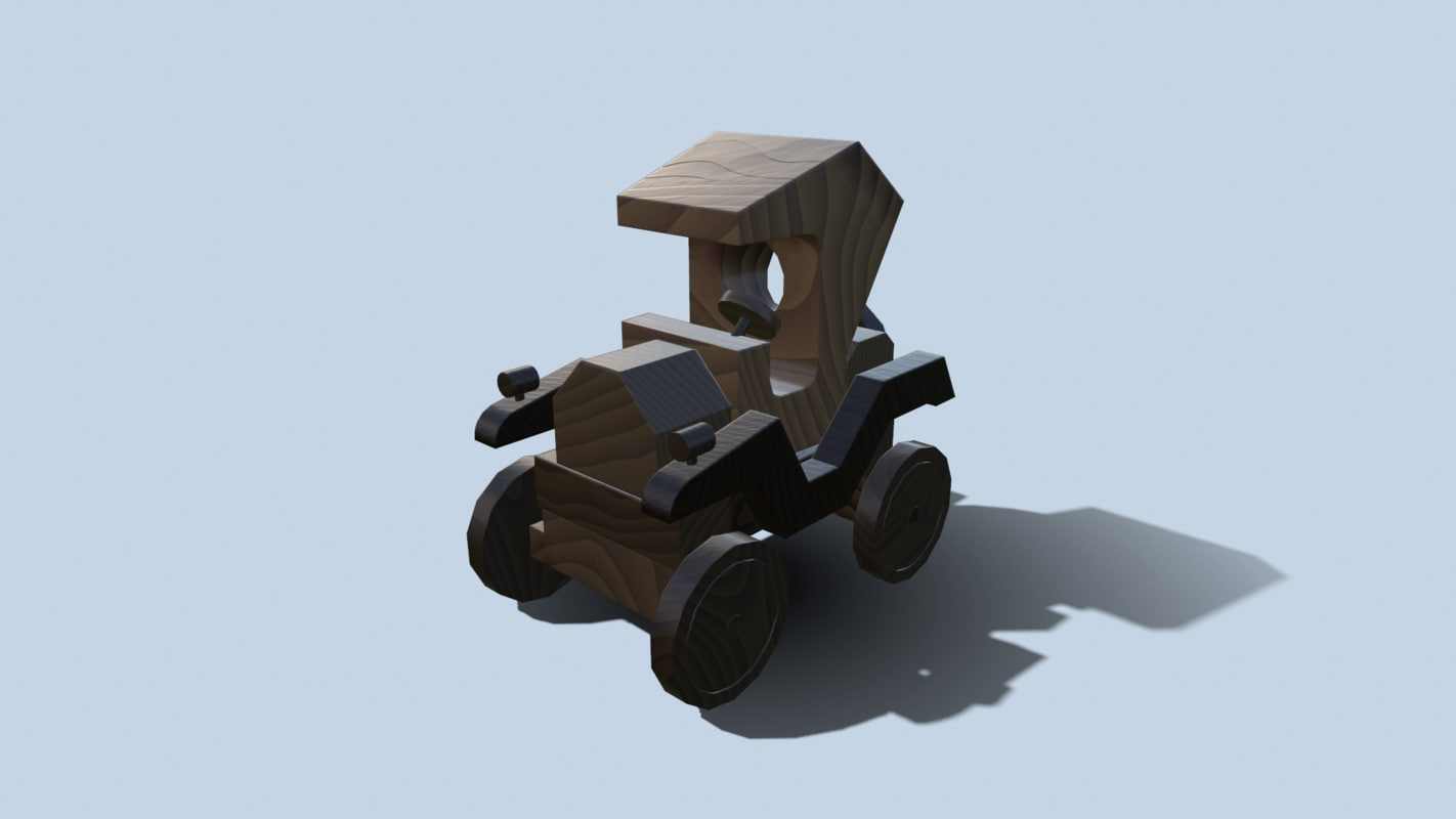 3D wooden car wood